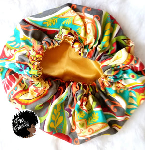 Multicolored Protective Satin Bonnets