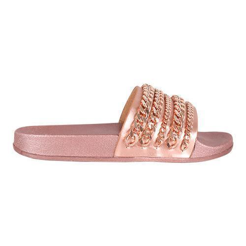 Chain Reaction Slide Rose Gold-Shoes-Cape Robin-JaeLuxe Shoetique
