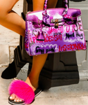 Purple Graffiti Handbag