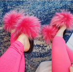 Mommy and Me Fur Slides