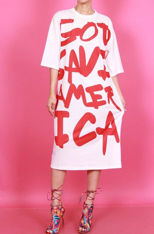 Save America Shirt Dress - boudoirnyc.com