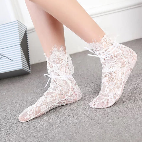 Lacey Girl Ankle Socks