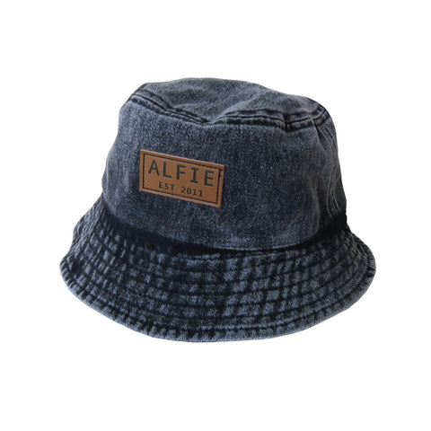 Black Acid Wash Bucket Hat