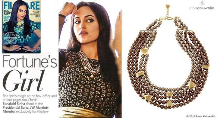 Looking Back Necklace on Sonakshi Sinha