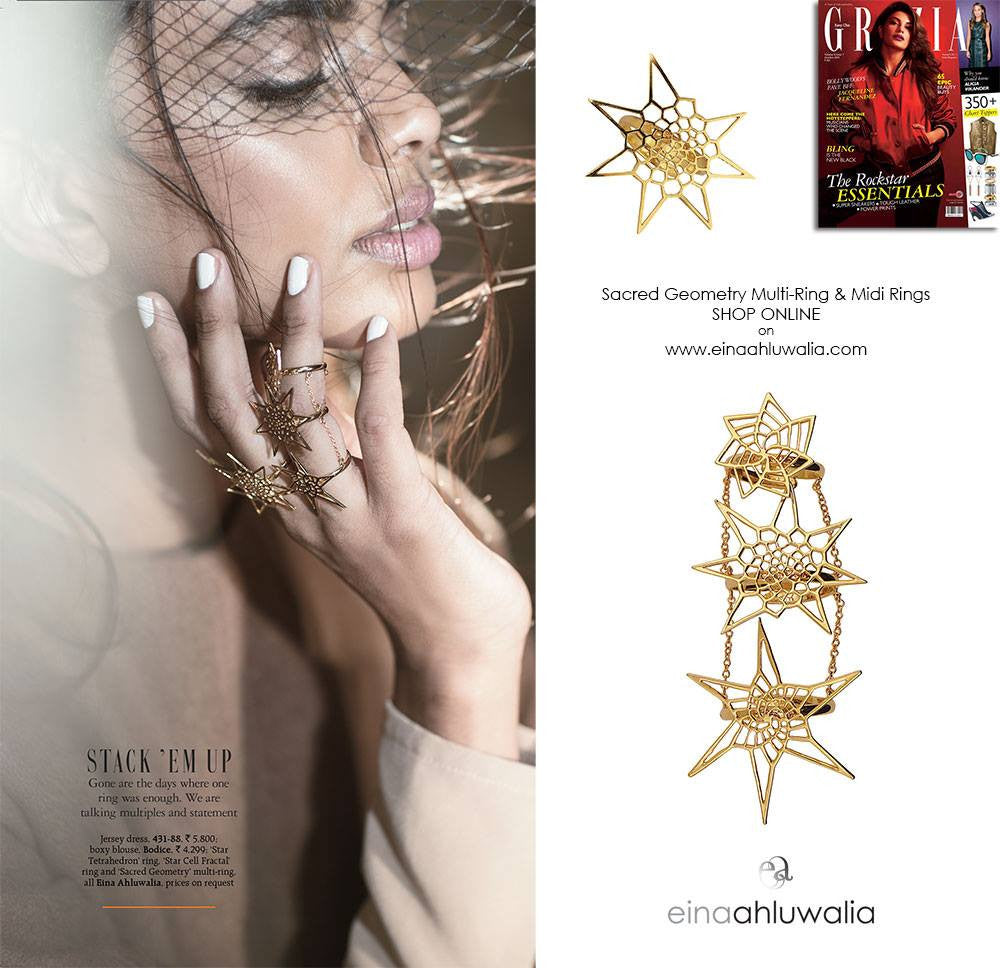 Star Cell Ring & Sacred Geometry Multi-Ring