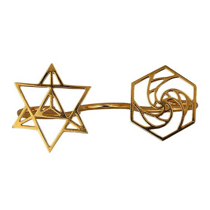 sacred geometry finger ring by eina ahluwalia sacred geometry 3 finger ring ll