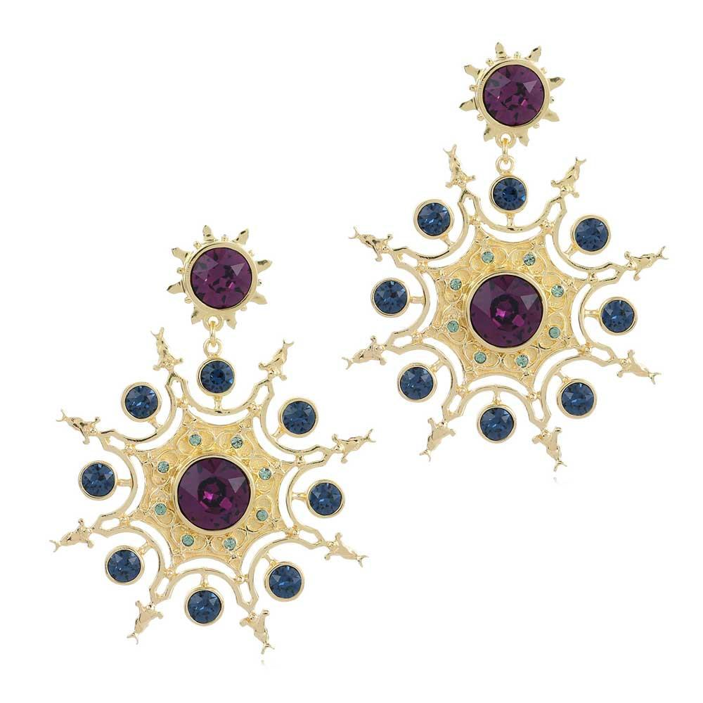 Persian Star Earrings - Confluence by Swarovski - Eina Ahluwalia