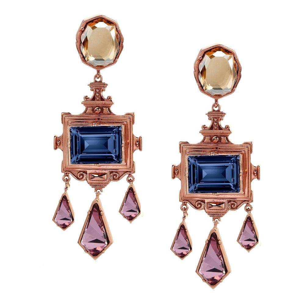 Rinascita Frame Earrings - Confluence by Swarovski - Eina Ahluwalia