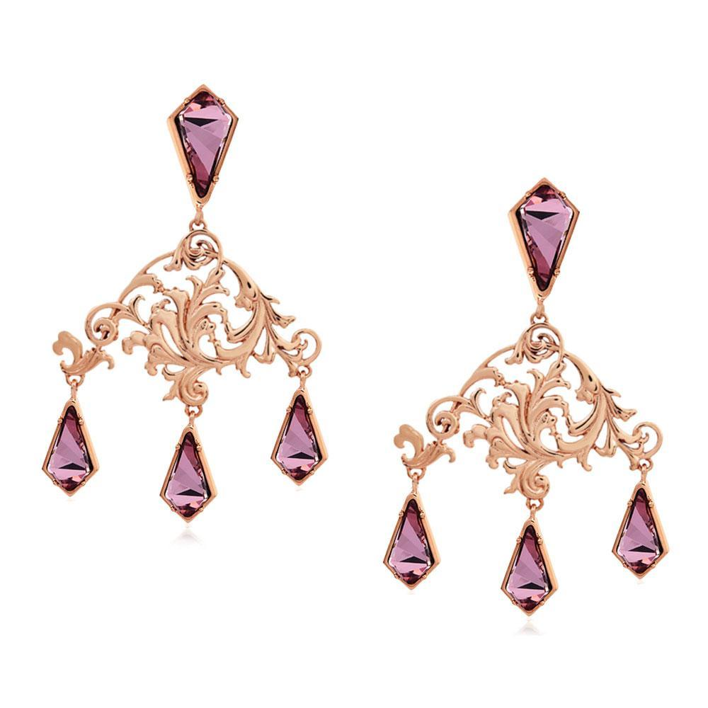Rinascita Small Chandelier Earrings - Confluence by Swarovski - Eina Ahluwalia