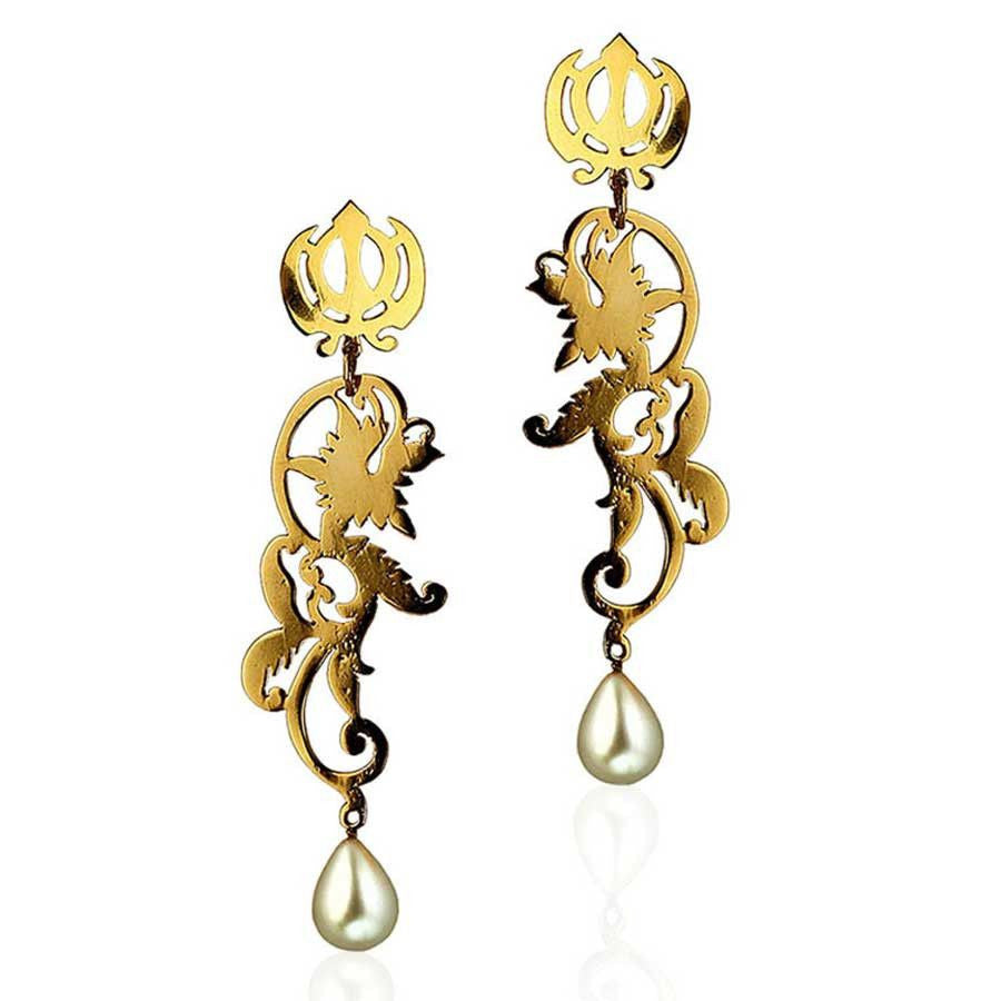 Khanda Earrings - Eina Ahluwalia