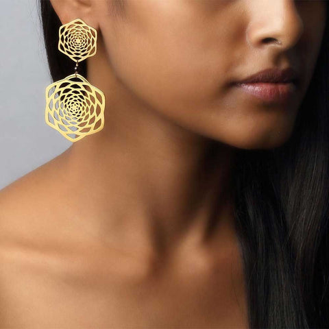 Lotus Fractal Earrings