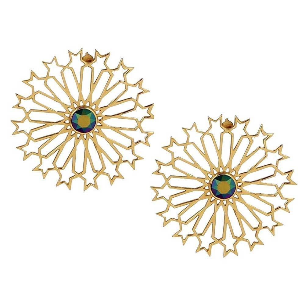 Mughal Stud Earrings (Multi) - Confluence by Swarovski - Eina Ahluwalia