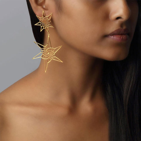 Sacred Geometry Double Earrings II
