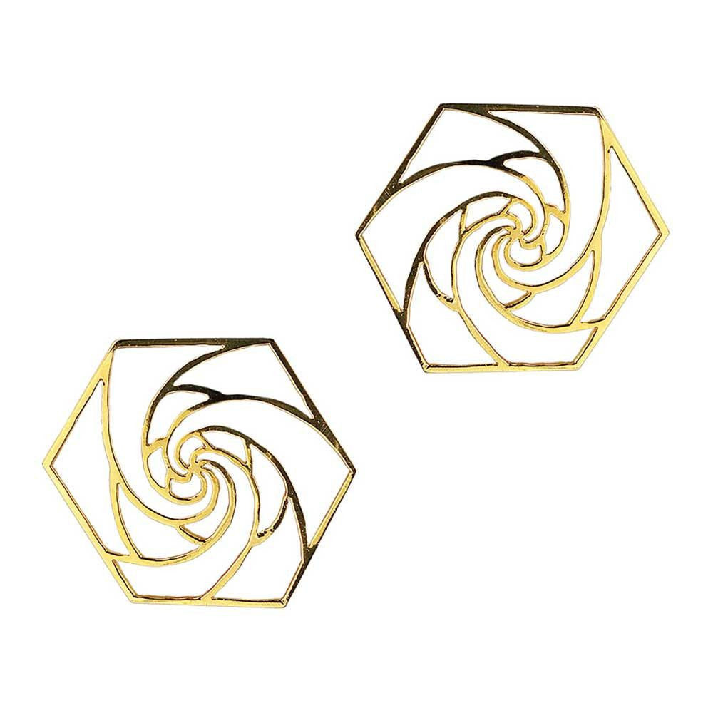 Rose Fractal Studs (Available in 3 colours)