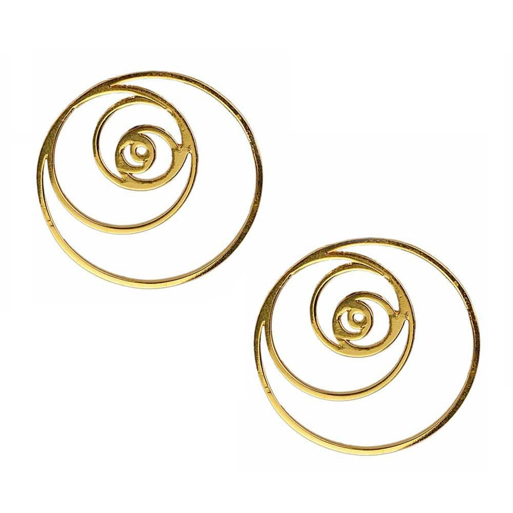 Fibonacci Spiral Earrings (Available in 3 colours)