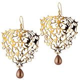 Baroque Earrings with Pearl Drops - Eina Ahluwalia