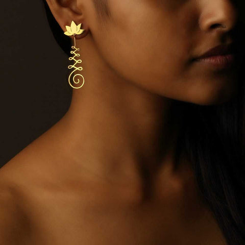 Unalome Earrings