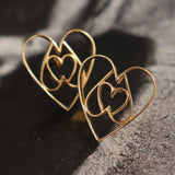 Equilateral Heart Earrings