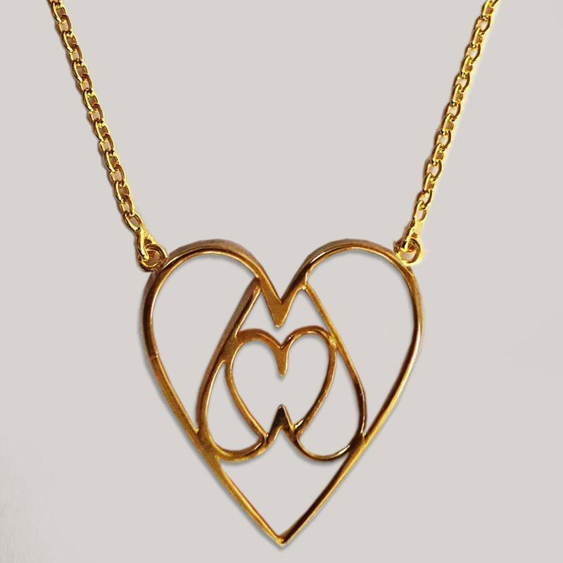 Equilateral Heart Necklace
