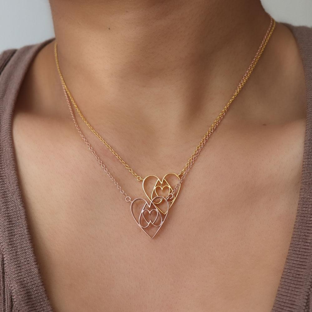 Equilateral Heart Necklace - Eina Ahluwalia
