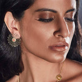 Mughal Stud Earrings (Pink) - Confluence by Swarovski - Eina Ahluwalia