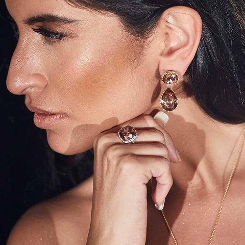 Persian Back Jaal Earring - Confluence by Swarovski