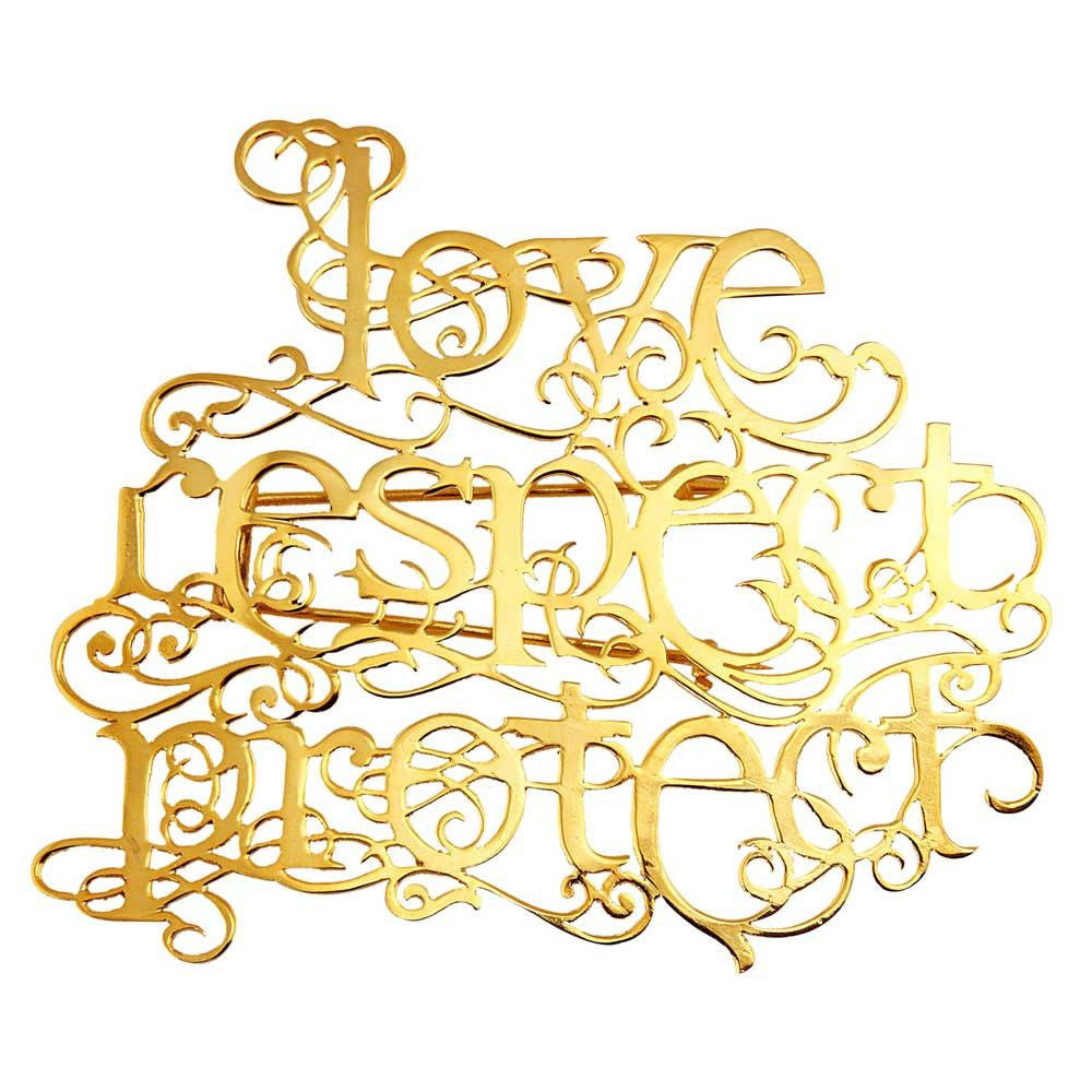 Love Respect Protect Brooch - Eina Ahluwalia