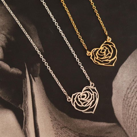 My Heart Rose Necklace