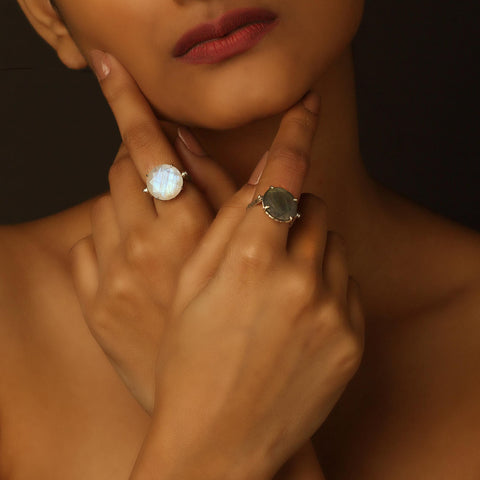 Serendipity Ring - Reversible - Moonstone