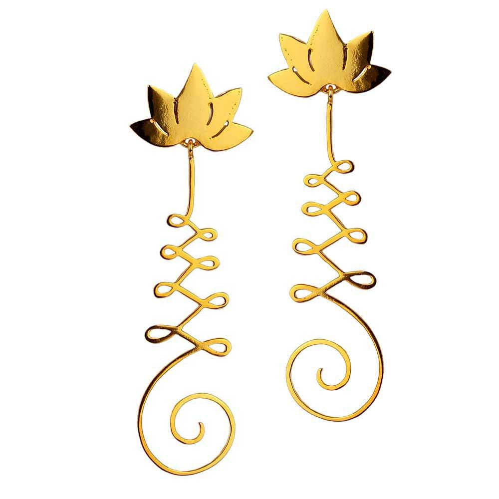 Unalome Earrings - Eina Ahluwalia