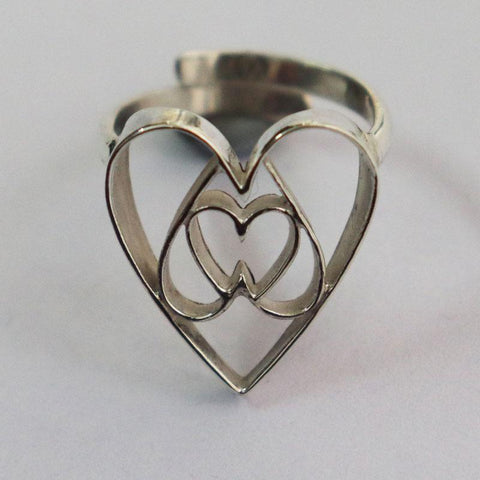 Equilateral Heart Ring