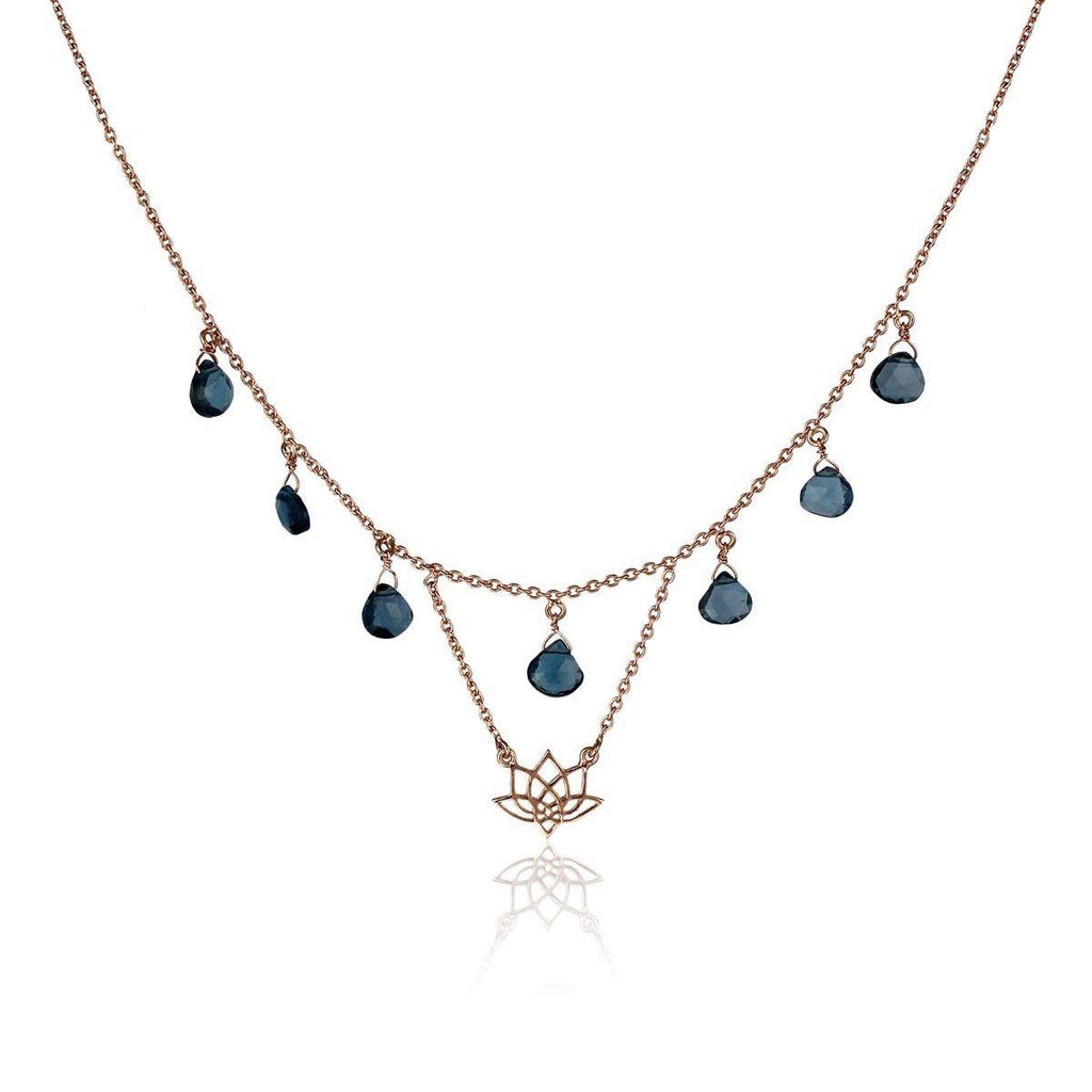 Enlight Necklace - London Blue Topaz - Eina Ahluwalia