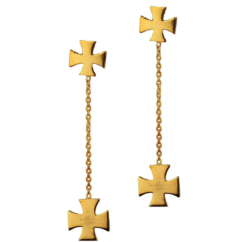 Medal of Valour Drop Earrings (Available in 3 colours) - Eina Ahluwalia