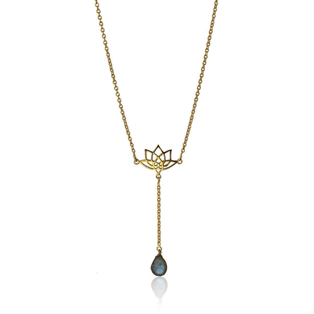 Enlight Lariat Necklace - Labradorite - Eina Ahluwalia
