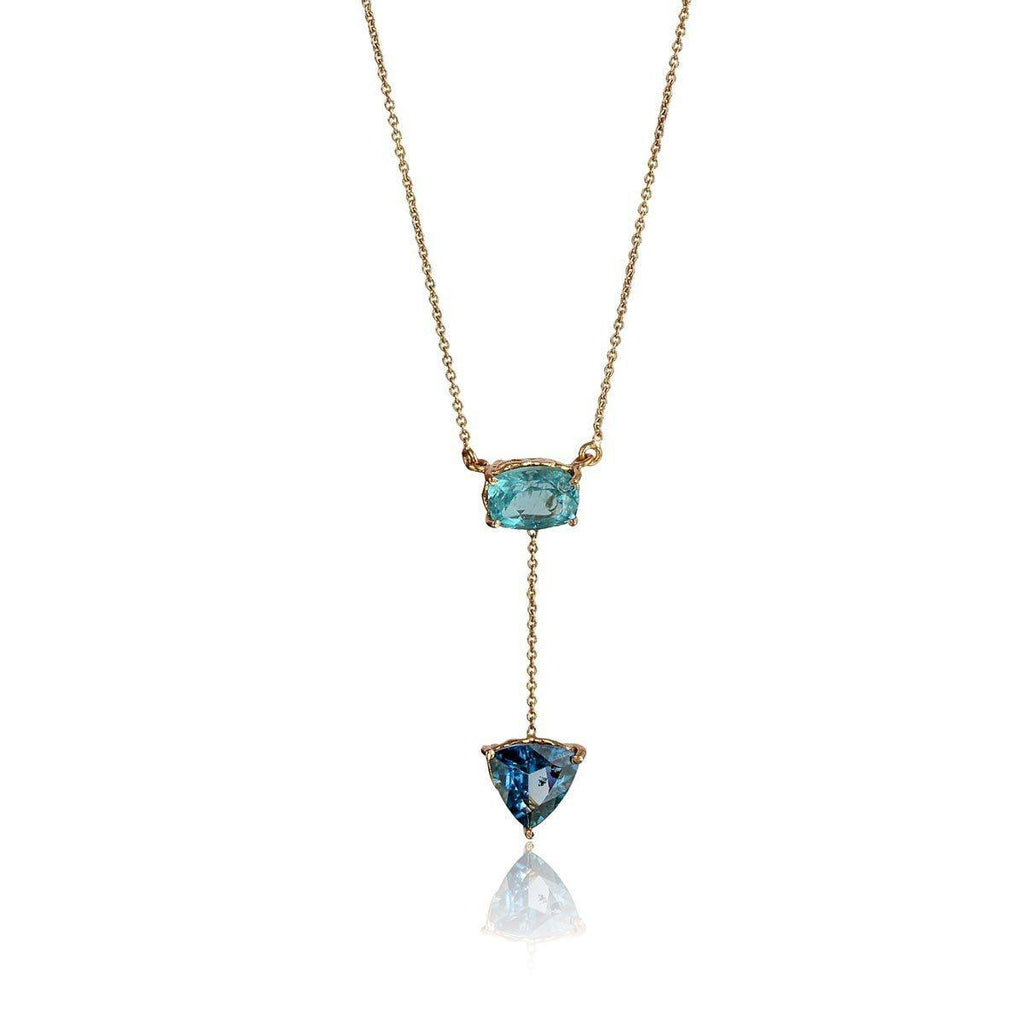 Courage & Truth Necklace - Apatite & London Blue Topaz - Eina Ahluwalia
