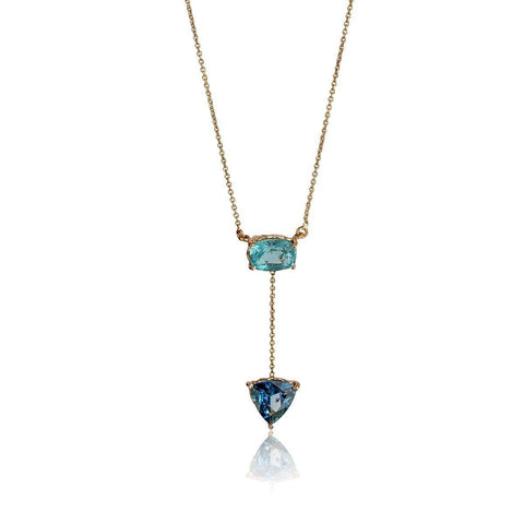 Courage & Truth Necklace - Apatite & London Blue Topaz
