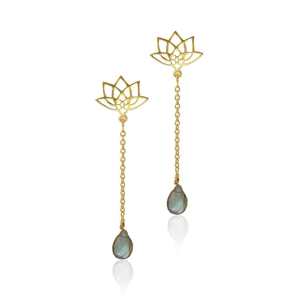 Enlight Earrings - Labradorite - Eina Ahluwalia