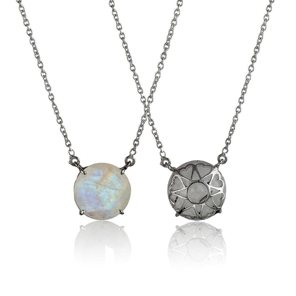 Serendipity Necklace - Reversible - Moonstone - Eina Ahluwalia