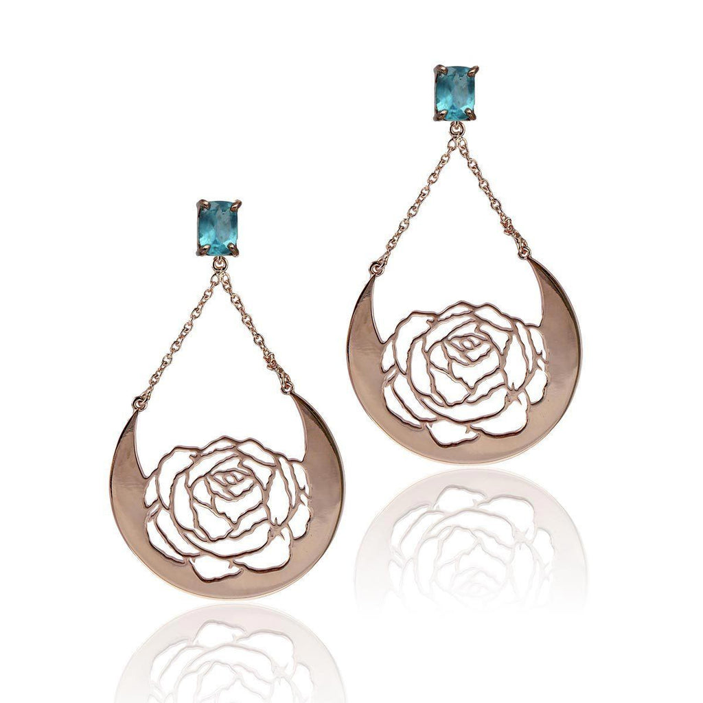 Celestial Bloom Earrings - Apatite - Eina Ahluwalia