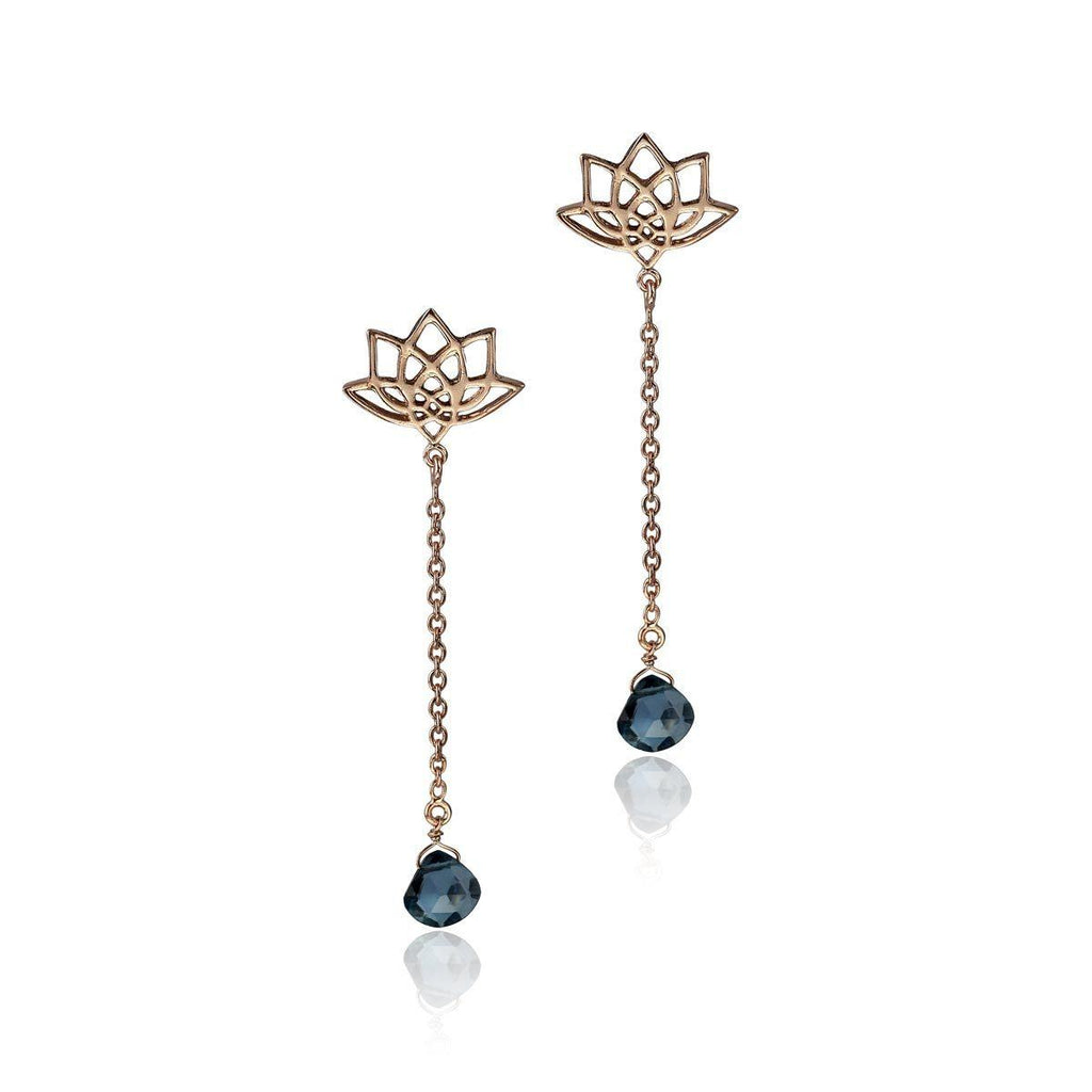 Enlight Earrings - London Blue Topaz - Eina Ahluwalia