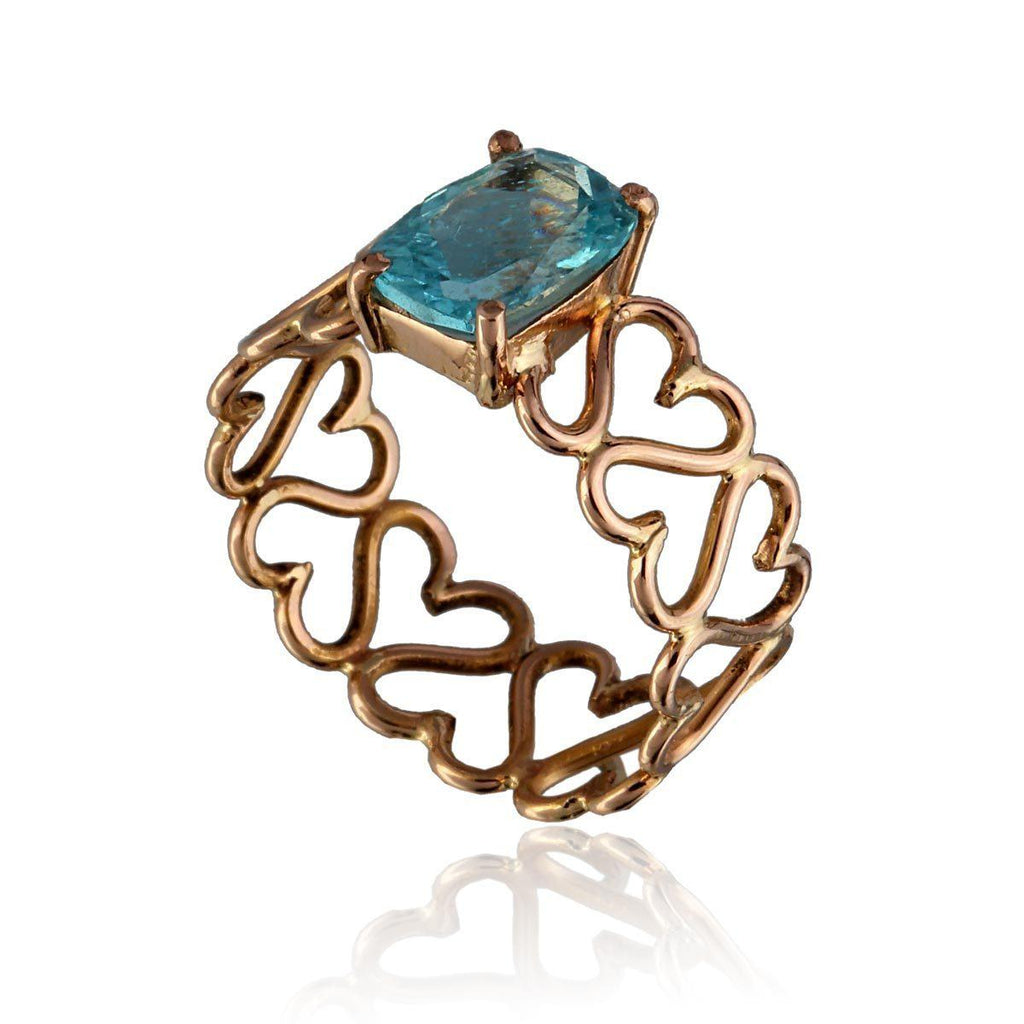 Unconditional Love & Courage Ring - Apatite - Eina Ahluwalia