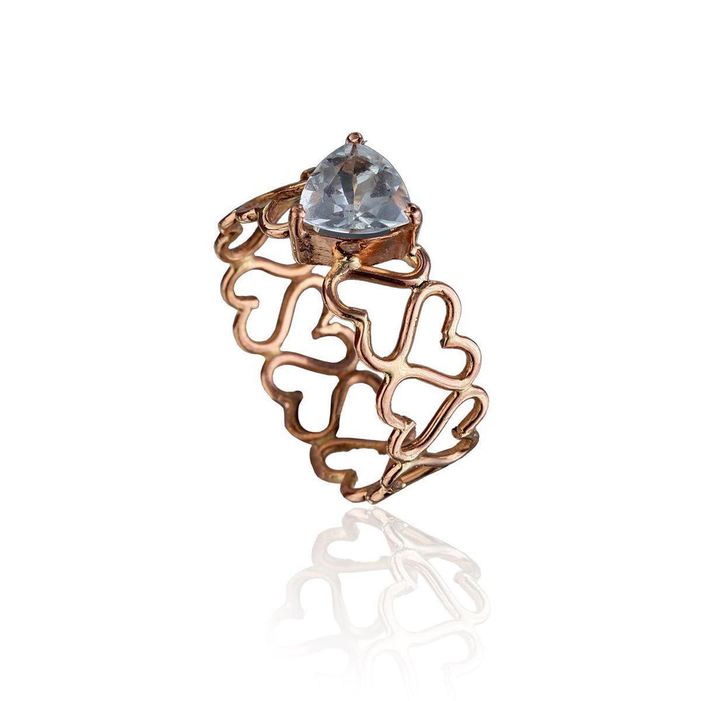 Unconditional Love & Creativity Ring - Aquamarine in 18K Rose Gold - Eina Ahluwalia