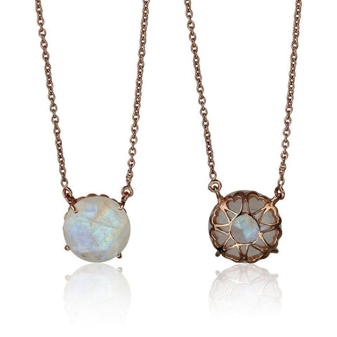 Serendipity Necklace - Reversible - Moonstone