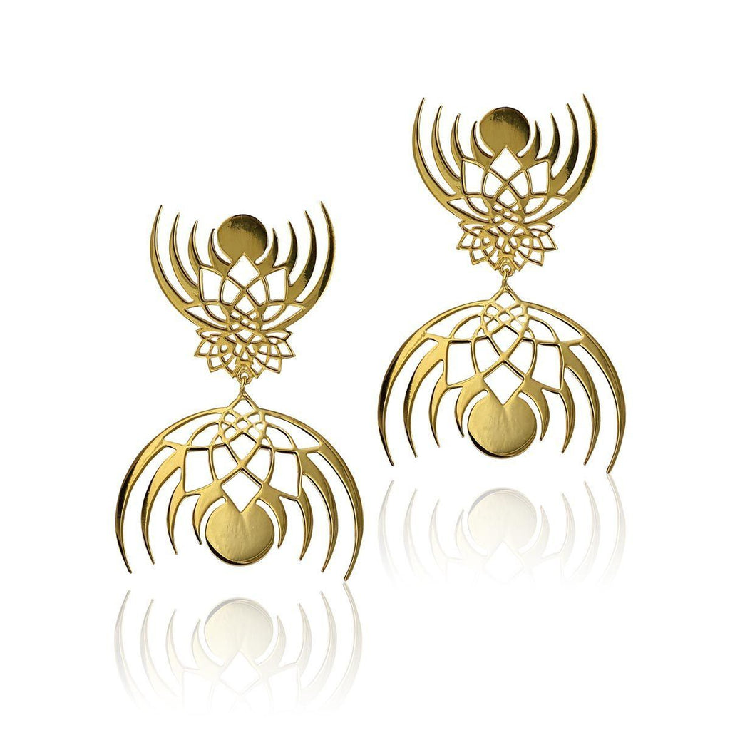 Crown of Selene Double Earrings - Eina Ahluwalia