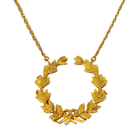 Wreath of Honour Necklace - Large (Available in 2 colours)