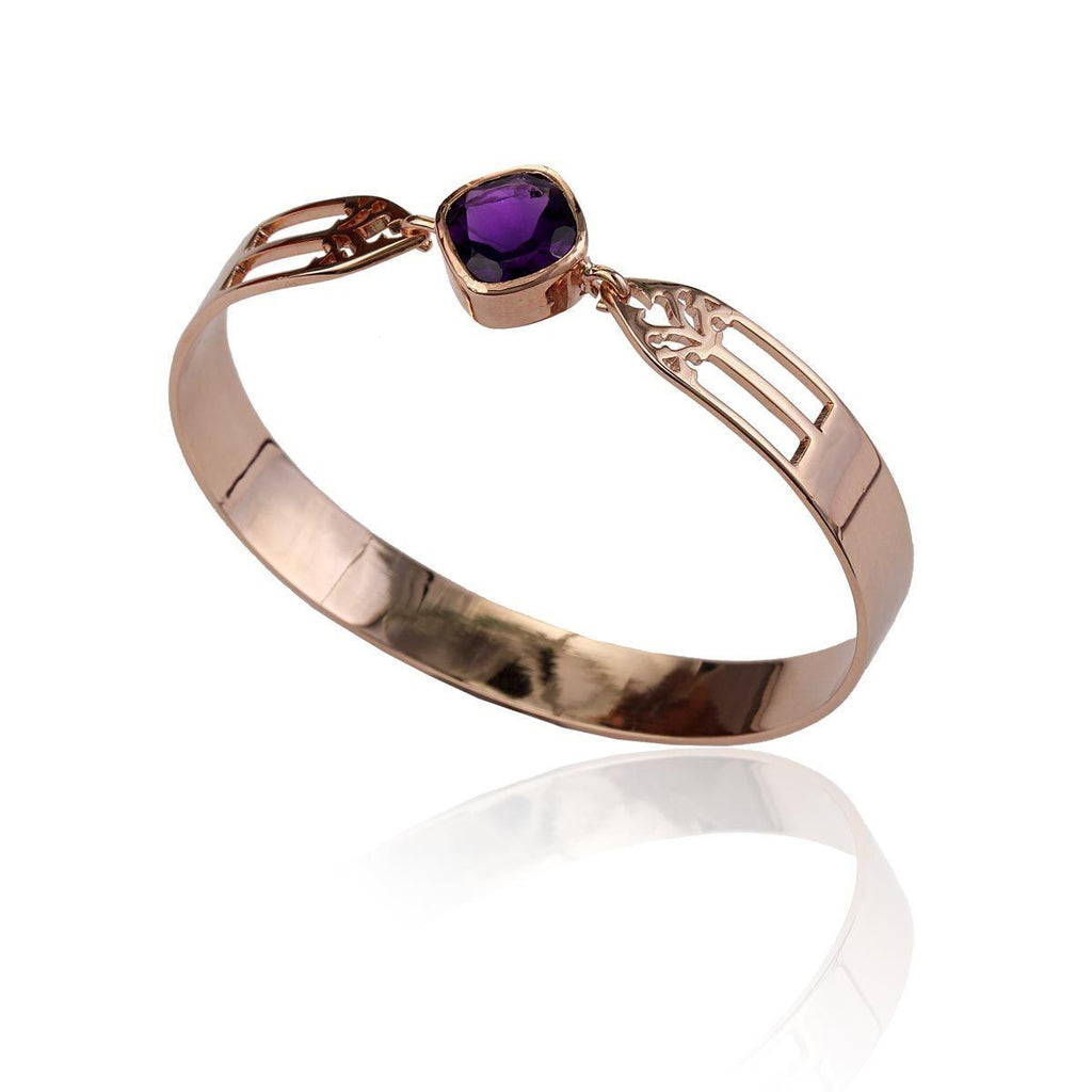 Aspire Bangle - Amethyst - Eina Ahluwalia