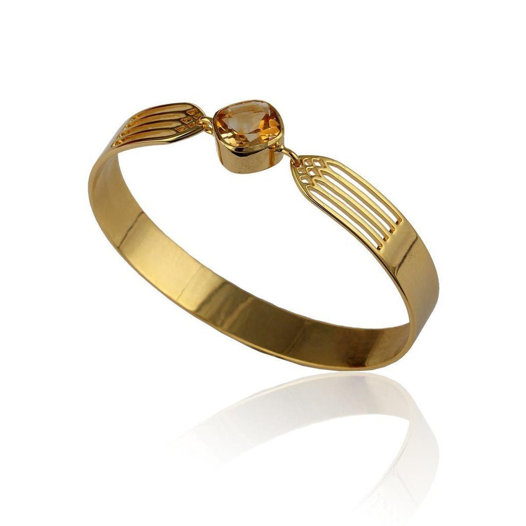 Transcend Bangle - Citrine - Eina Ahluwalia