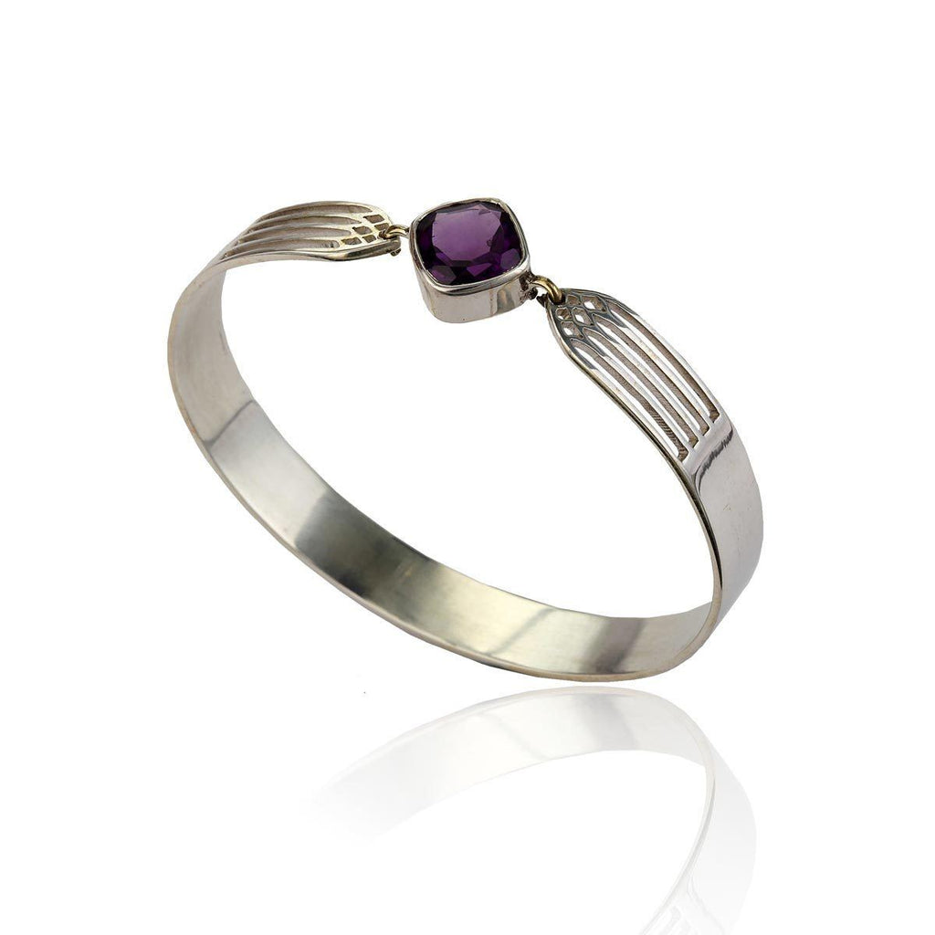 Transcend Bangle - Amethyst - Eina Ahluwalia