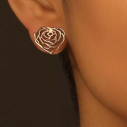 My Heart Rose Earrings