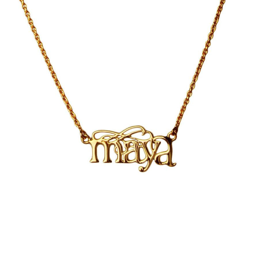Name Necklace - English - Eina Ahluwalia
